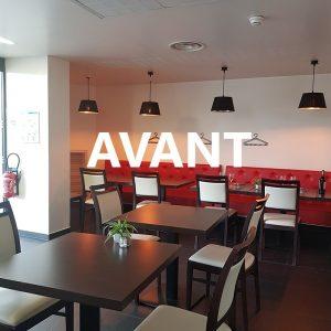 Salle de restaurant avant le projet de décoration à Bayonne