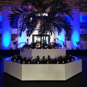 Event designer pour évènement professionnel ambiance bleu hôtel Anglet