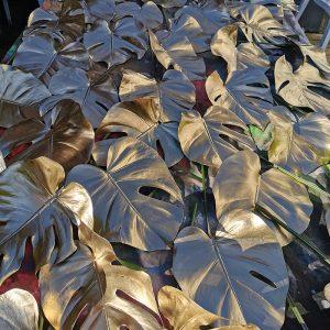 Atelier feuilles à dorer pour décoration de tables pour fete de fin d'année à Bidart