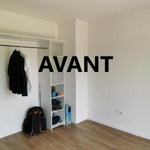 Chambre avant projet décoration ID'Harmonies à Bayonne
