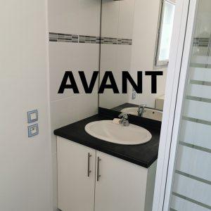 Salle d'eau avant projet décoration intérieur à Bayonne