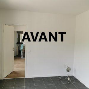 Chambre toute blanche avant projet décoration agence ID'Harmonies à Bayonne