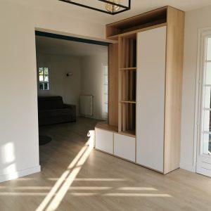 Réalisation meuble d'angle sur mesure à Biarritz