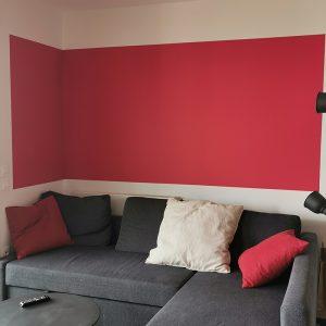 Envie de rouge par le client dans son salon à Saint Jean de Luz