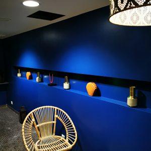 Magnifique bleu paon pour spa duo privatif ambiance déco orientale à Anglet
