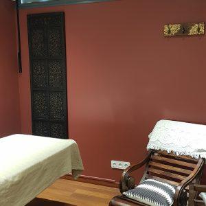Coin de détente dans cabine de massage et détente à Anglet