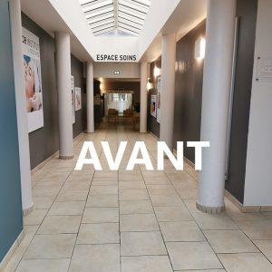 Couloir avant projet décoration dans un espace public à Anglet
