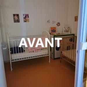 Nurserie avant projet décoratif de l'agence ID'Harmonies à Anglet