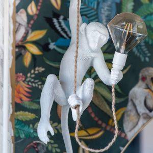 La mise en scène de la décoratrice avec des luminaires originaux