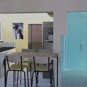 Photoréalisme projet conception décoration intérieur bord de mer dans les Landes