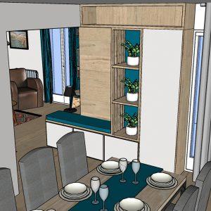 Visuel 3D meuble sur mesure pour habiller un angle Biarritz