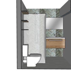 Visuels 3D de la pièce d'eau projet de décoration à Seignosse dans les Landes